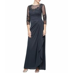 Alex Evenings Chiffon Gown -  Size 6